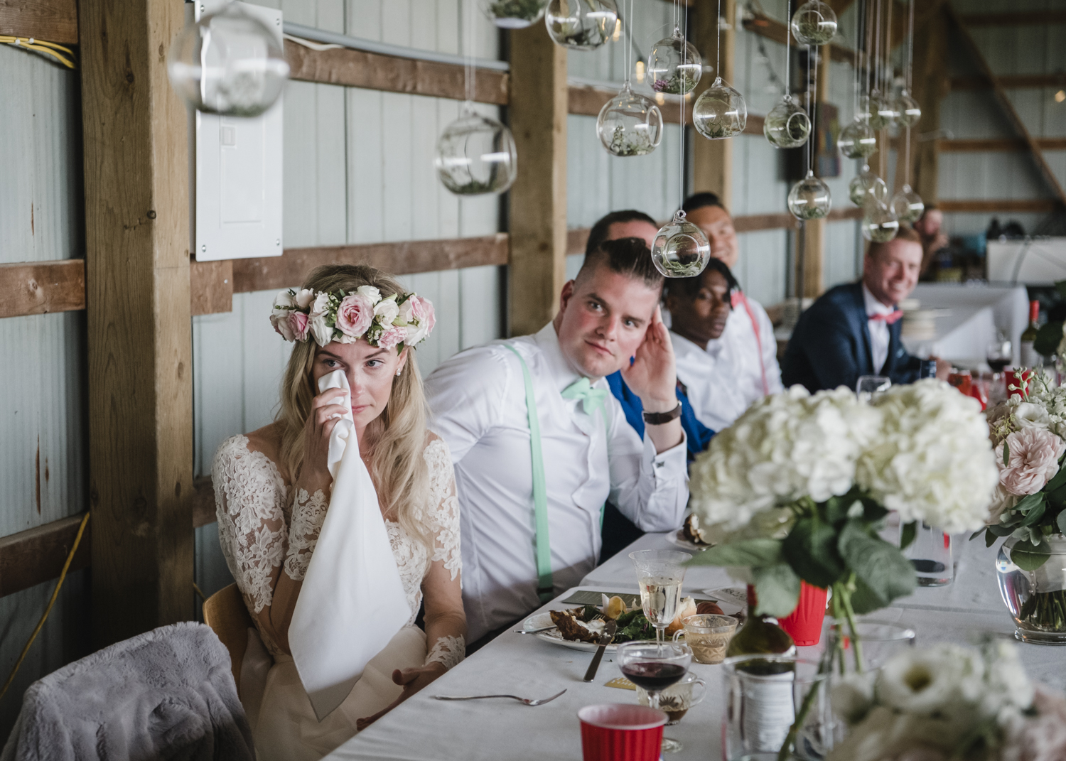 an outdoor DIY family farm wedding in Ailsa Craig, Ontario.knorthphotography