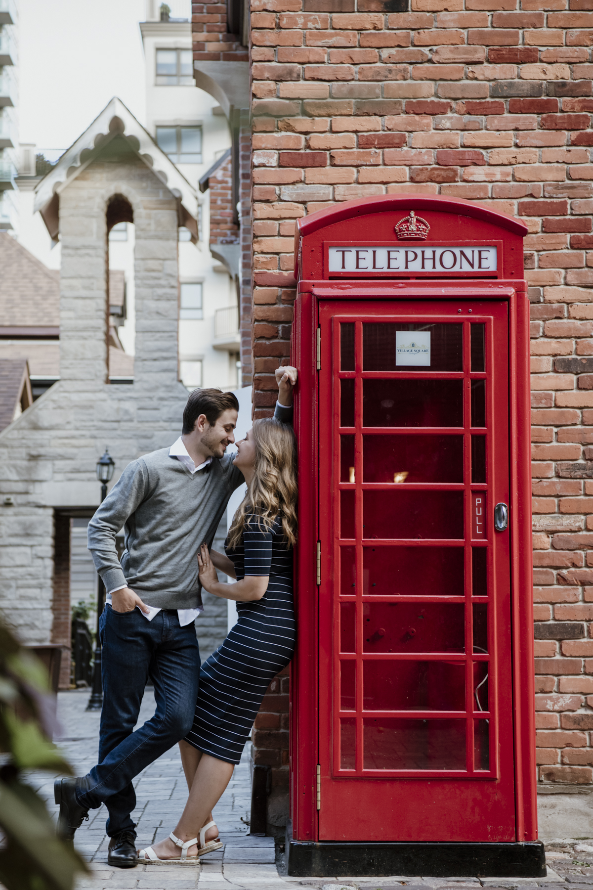 A local business inspired engagement shoot in downtown Burlington.2019.knorthphotography